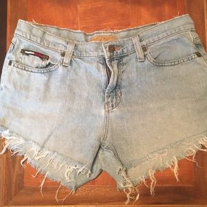 Tommy Hilfiger Distressed Denim Shorts